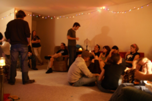 PARTY IN A LIMITED SPACE